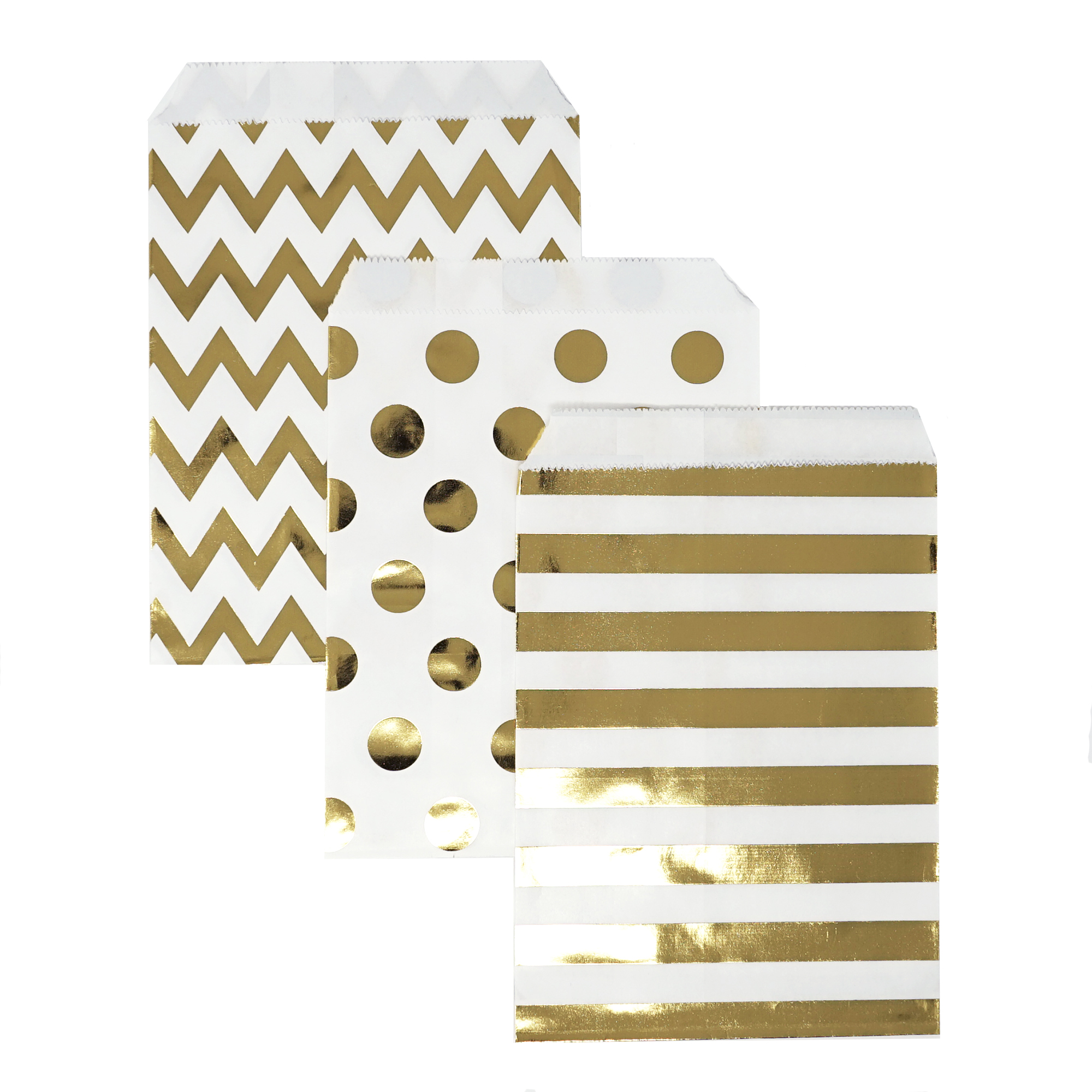 Candy Favor Treat Bags 48ct Gold